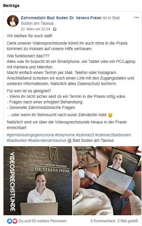 Dr. Freier´s Facebook Post