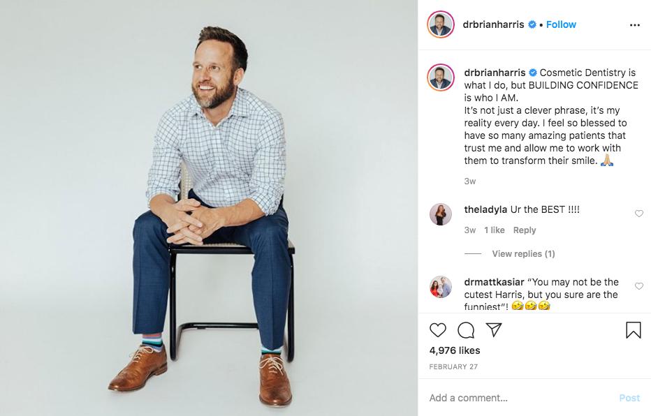 Dr. Harris´s Instagram Post